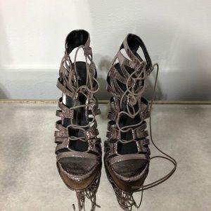 Top Shop lace up open toe heels